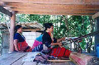 Karen women weaving